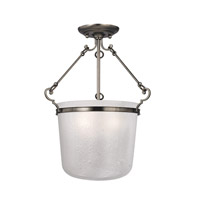 Hudson Valley Lighting Amenia 3 Light Semi Flush in Historic Nickel 1030-HN