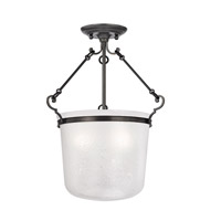 Hudson Valley Lighting Amenia 3 Light Semi Flush in Old Bronze 1030-OB