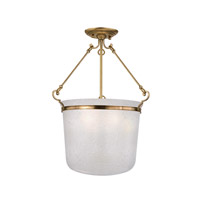 Hudson Valley Lighting Amenia 3 Light Semi Flush in Aged Brass 1032-AGB