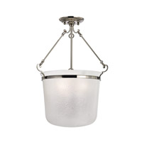 Hudson Valley Lighting Amenia 3 Light Semi Flush in Polished Nickel 1032-PN