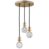 Marlow 3 Light 10 inch Aged Brass Pendant Ceiling Light