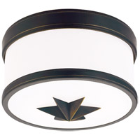 Seneca 1 Light 9 inch Old Bronze Flush Mount Ceiling Light