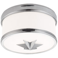 Seneca 1 Light 9 inch Polished Chrome Flush Mount Ceiling Light