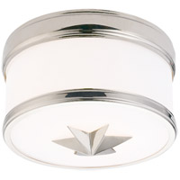 Hudson Valley Lighting Seneca 1 Light Flush Mount in Polished Nickel 1109-PN