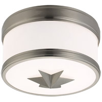 Seneca 1 Light 9 inch Satin Nickel Flush Mount Ceiling Light