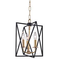 Hudson Valley 1110-AGB Laszlo 3 Light 10 inch Aged Brass Pendant Ceiling Light