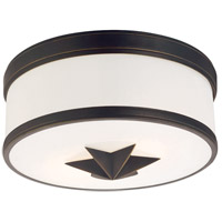 Seneca 2 Light 12 inch Old Bronze Flush Mount Ceiling Light