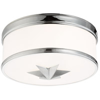 Seneca 2 Light 12 inch Polished Chrome Flush Mount Ceiling Light
