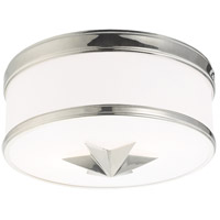 Seneca 2 Light 12 inch Polished Nickel Flush Mount Ceiling Light