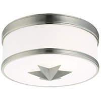 Seneca 2 Light 12 inch Satin Nickel Flush Mount Ceiling Light