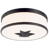 Seneca 3 Light 15 inch Old Bronze Flush Mount Ceiling Light