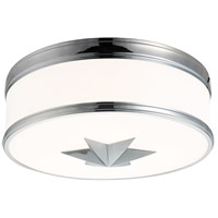 Seneca 3 Light 15 inch Polished Chrome Flush Mount Ceiling Light