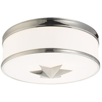 Seneca 3 Light 15 inch Polished Nickel Flush Mount Ceiling Light