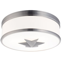 Seneca 3 Light 15 inch Satin Nickel Flush Mount Ceiling Light