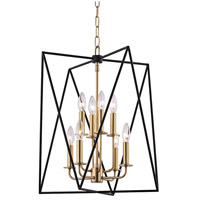 Laszlo 8 Light 18 inch Aged Brass Pendant Ceiling Light