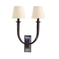 Vienna 2 Light 15 inch Old Bronze Wall Sconce Wall Light in Eco Paper
