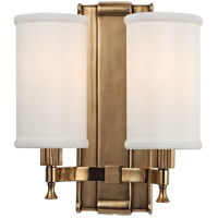 Hudson Valley Lighting Palmdale 2 Light Wall Sconce in Aged Brass 1122-AGB