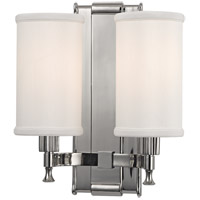 Palmdale 2 Light 10 inch Polished Nickel Wall Sconce Wall Light