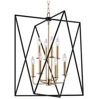 Laszlo 8 Light 29 inch Aged Brass Pendant Ceiling Light