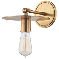 Hudson Valley 1161-AGB Walker 1 Light 8 inch Aged Brass Wall Sconce Wall Light