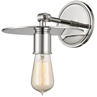 Hudson Valley 1161-PN Walker 1 Light 8 inch Polished Nickel Wall Sconce Wall Light