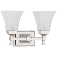 Kirkland 2 Light 15 inch Polished Nickel Bath And Vanity Wall Light