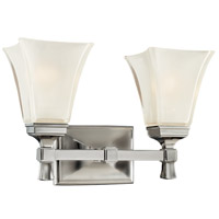 Kirkland 2 Light 15 inch Satin Nickel Bath And Vanity Wall Light