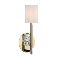Hudson Valley Lighting Burbank 1 Light Wall Sconce in Polished Brass/Nickel 1211-PBN