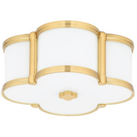 Hudson Valley 1212-AGB Chandler 2 Light 13 inch Aged Brass Flush Mount Ceiling Light