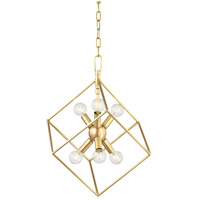 Roundout 6 Light 17 inch Aged Brass Pendant Ceiling Light