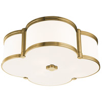 Chandler 3 Light 17 inch Aged Brass Flush Mount Ceiling Light