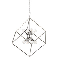 Roundout 8 Light 23 inch Polished Nickel Pendant Ceiling Light