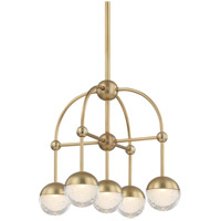 Boca LED 16 inch Aged Brass Chandelier Ceiling Light