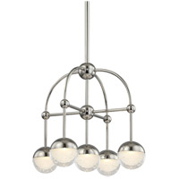 Polished Nickel Glass Boca Chandeliers