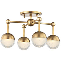 Boca LED 16 inch Aged Brass Flush Mount Ceiling Light