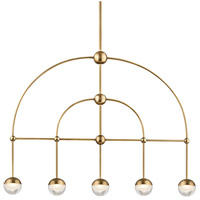 Hudson Valley 1225-AGB Boca LED 39 inch Aged Brass Island Ceiling Light