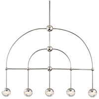 Boca LED 39 inch Polished Nickel Island Ceiling Light