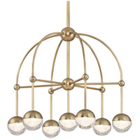 Hudson Valley 1227-AGB Boca LED 24 inch Aged Brass Chandelier Ceiling Light