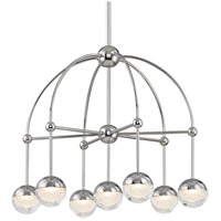 Hudson Valley 1227-PN Boca LED 24 inch Polished Nickel Chandelier Ceiling Light photo thumbnail