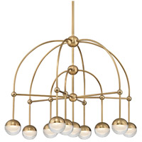 Boca LED 31 inch Aged Brass Chandelier Ceiling Light