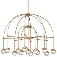 Boca LED 39 inch Aged Brass Chandelier Ceiling Light