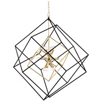 Roundout 12 Light 34 inch Aged Brass Pendant Ceiling Light