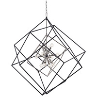 Roundout 12 Light 34 inch Polished Nickel Pendant Ceiling Light