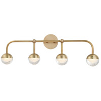 Boca LED 30 inch Aged Brass Bath Vanity Wall Light