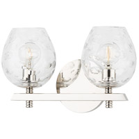 Hudson Valley 1252-PN Burns 2 Light 12 inch Polished Nickel Bath Vanity Wall Light