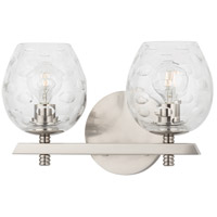 Hudson Valley 1252-SN Burns 2 Light 12 inch Satin Nickel Bath Vanity Wall Light