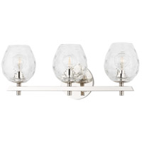 Hudson Valley 1253-PN Burns 3 Light 19 inch Polished Nickel Bath Vanity Wall Light