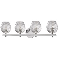 Hudson Valley Lighting Burns 4 Light Bath Vanity in Polished Nickel 1254-PN