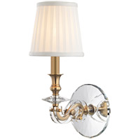 Hudson Valley Lapeer 1 Light Wall Sconce in Aged Brass 1291-AGB