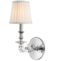 Hudson Valley Lapeer 1 Light Wall Sconce in Polished Nickel 1291-PN